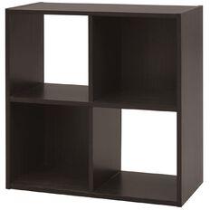 Living & Co Madrid Display Shelf Choc 4 Cube Chocolate