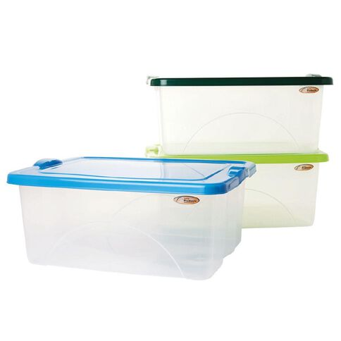Taurus Clear View Storage Organiser with Lid 20L Assorted
