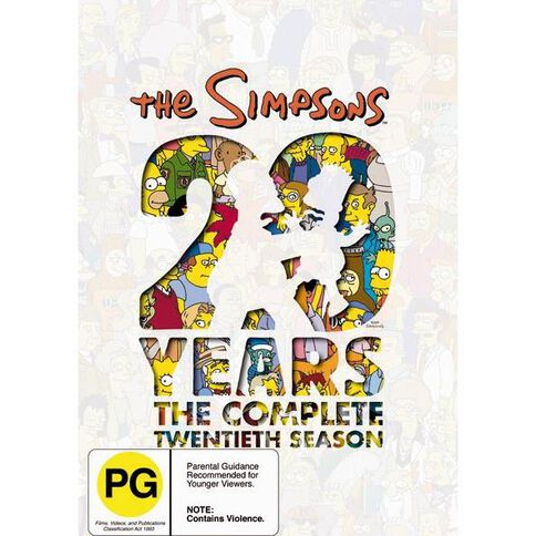 The Simpsons Season 20 DVD 4Disc