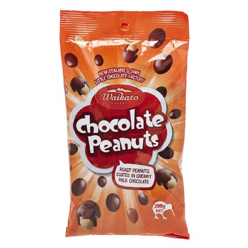 Waikato Valley Chocolates Milk Chocolate Peanut Bag 200g