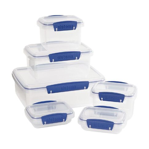 Sistema Klip It Blue Set 6 Piece Shrinkwrap