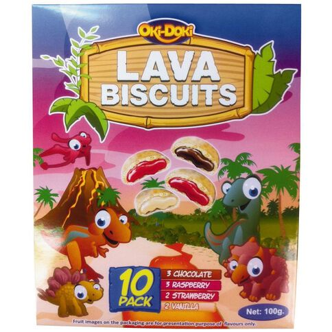 Oki Doki Lava Biscuits 10 Pack
