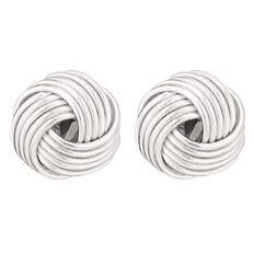 Sterling Silver Knott Earrings