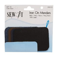 Sew It Iron on Menders Dark 10 Pack