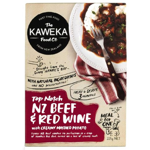 Kaweka Ready to Eat Meal Beef Red Wine 225g