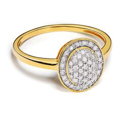 1/4 Carat of Diamonds 9ct Gold Diamond Oval Ring