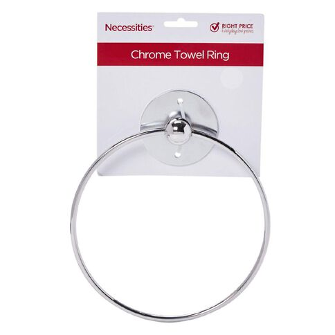 Necessities Brand Towel Ring Chrome