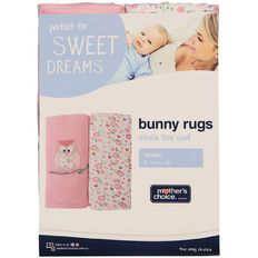 Mother's Choice Olivia the Owl Bunny Rug 2 Pack