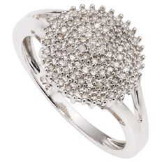 1/4 Carat of Diamonds 9ct Gold Cluster Ring