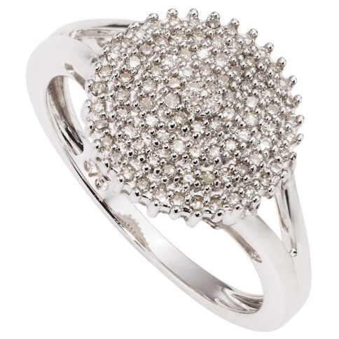 1/4 Carat of Diamonds 9ct Gold Cluster Ring