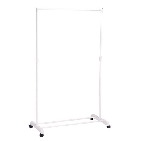 Living & Co Rolling Garment Rack with Shoe Rest