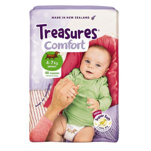 Treasures Nappies Bulk Infant 4-7kg 48 Pack