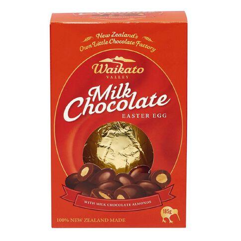 Waikato Valley Chocolates Milk Chocolate Egg with Almonds 185g