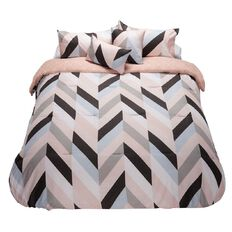 Living & Co Comforter Set Dusky Herringbone