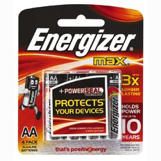 Energizer Max Batteries AA 4 Pack