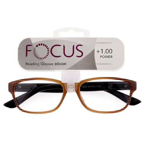 Focus Reading Glasses Decor 1.00