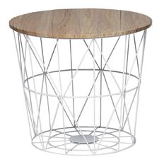 Living & Co Wire Nest Table White