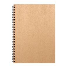 Deskwise Spiralbound Notebook Kraft A4