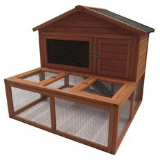 Fur'life Rabbit Hutch/Run Wooden Medium