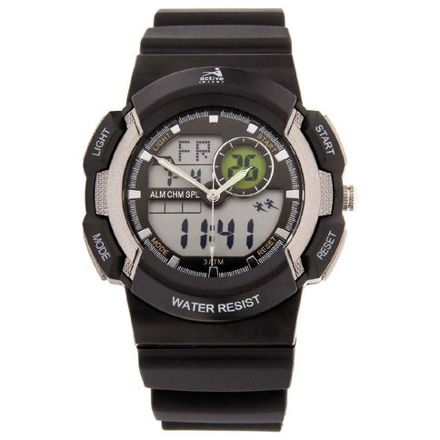 Active Intent Men's Digital Watch Black