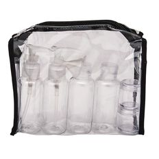 Necessities Brand Toiletry Bag with Bottles Clear