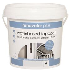 Renovator Plus Soft Satin Paint Warm Grey 4L