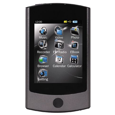 16GB MP4 Player with Touch Screen Dark Grey