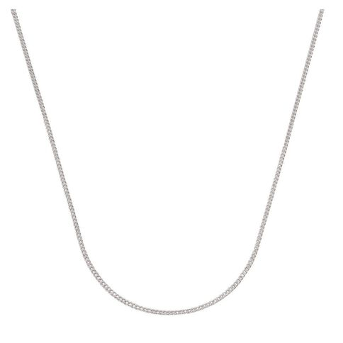 Sterling Silver Diamond Cut 50 Gauge Curb Chain 55cm