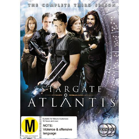 Stargate Atlantis Season 3 DVD 5Disc