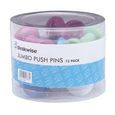 Deskwise Jumbo Push Pins 12 Piece