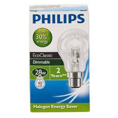 Philips EcoClassic30 A55 Bulb 53W B22 240V A55 Clear