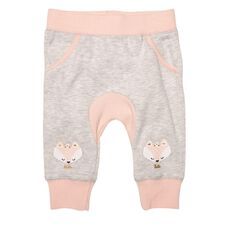 Hippo + Friends Baby Girl Gusset Print Trackpants