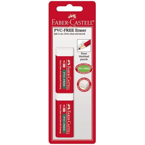 Faber-Castell Eraser PVC Free Large 2 Pack