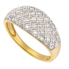 0.15 Carat of Diamonds 9ct Gold Diamond Pave Ring