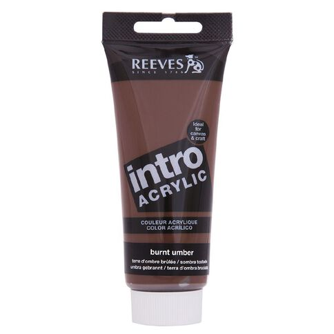 Reeves Intro Acrylic Burnt Umber 100ml