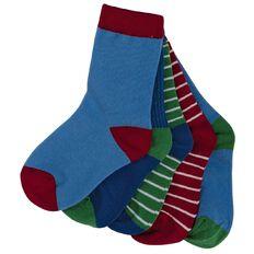 Hippo + Friends Boys' Crew Socks 5 Pack