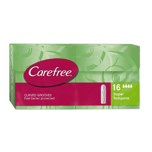 Carefree Super Tampons 16 Pack