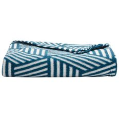 Necessities Brand Throw Polar Fleece Printed Hex Stripe 120cm x 140cm