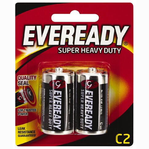 Eveready Super Heavy Duty Batteries C 2 Pack
