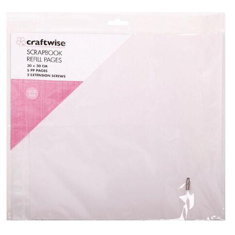 Craftwise Scrapbook Refill Acid Free 30cm x 30cm 5 Pack