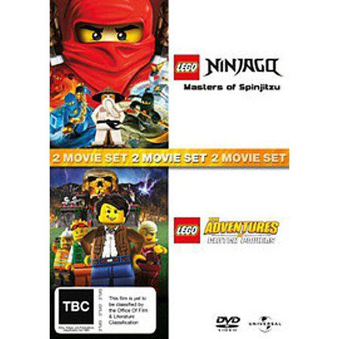Lego The Adventures Of Clutch Powers DVD 2Disc