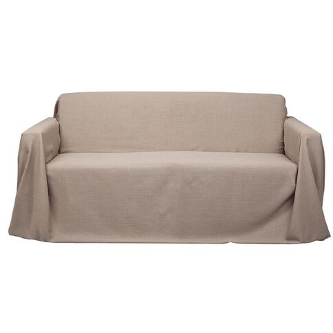 Living & Co Couch Cover Sand 1-2 Seater