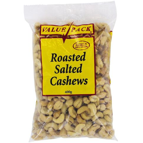 Value Pack Roasted And Salted Cashews 400g
