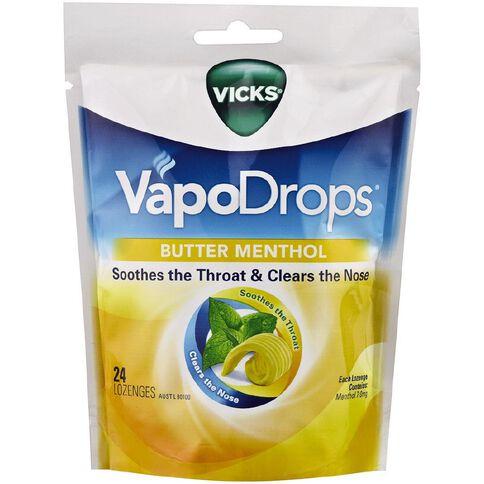 Vicks Vapordrops Butter Menthol 24s