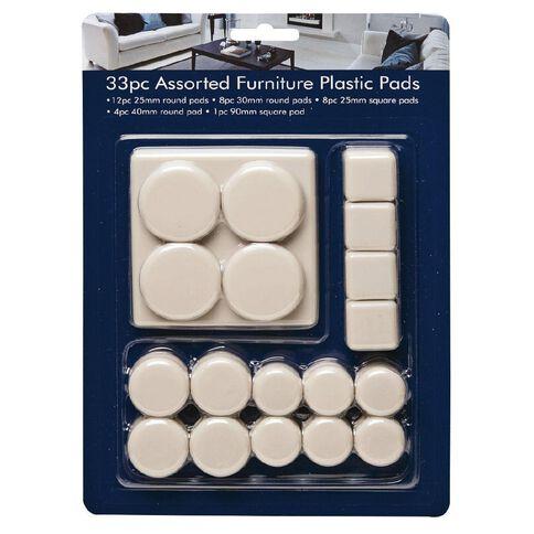 Adhesive Plastic Pads 33 Pack