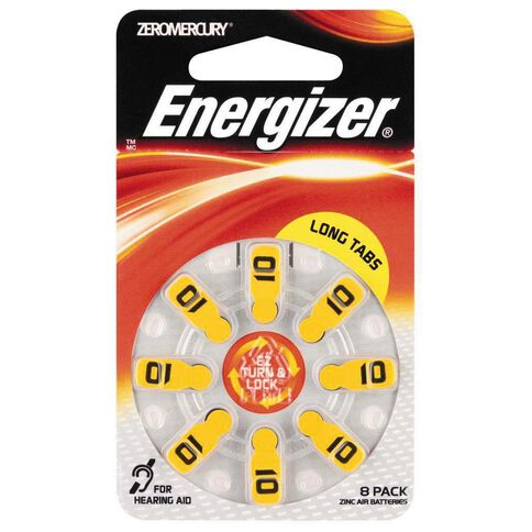 Energizer Hearing Aid Battery AZ10 8 Pack