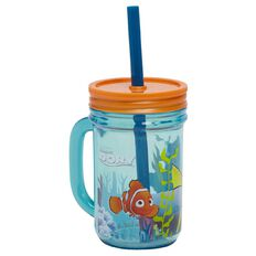 Finding Dory Mason Jar with Handle