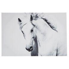 Living & Co Canvas Art Coco White Horse 40cm x 60cm
