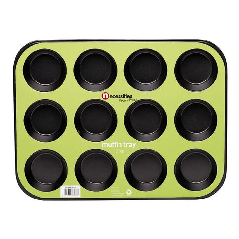 Necessities Brand Muffin Pan 12 Cup 35cm x 26.5cm x 3cm