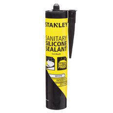 Stanley Sanitary Silicone Sealant White 300ml